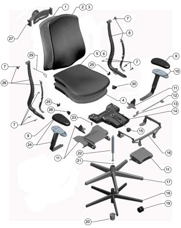 Herman Miller Celle Chair Parts - Authorized Retailer and Warranty ...