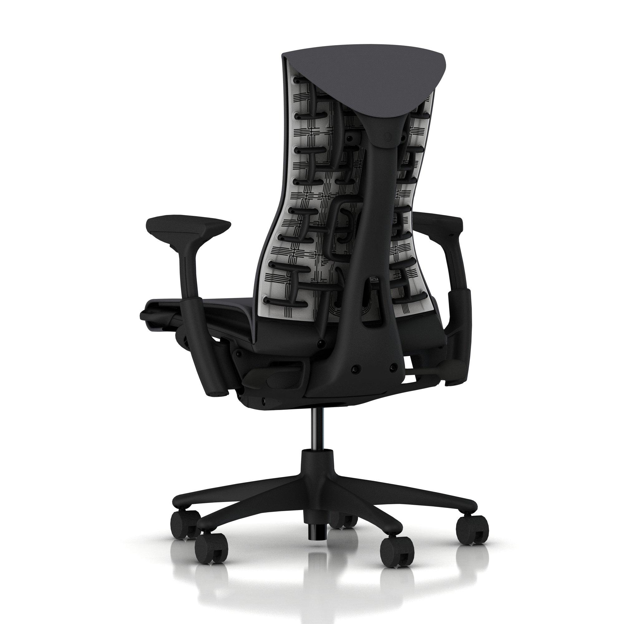 Herman Miller Embody Chair Charcoal Rhythm With Graphite Frame And Graphite Base Embody Home