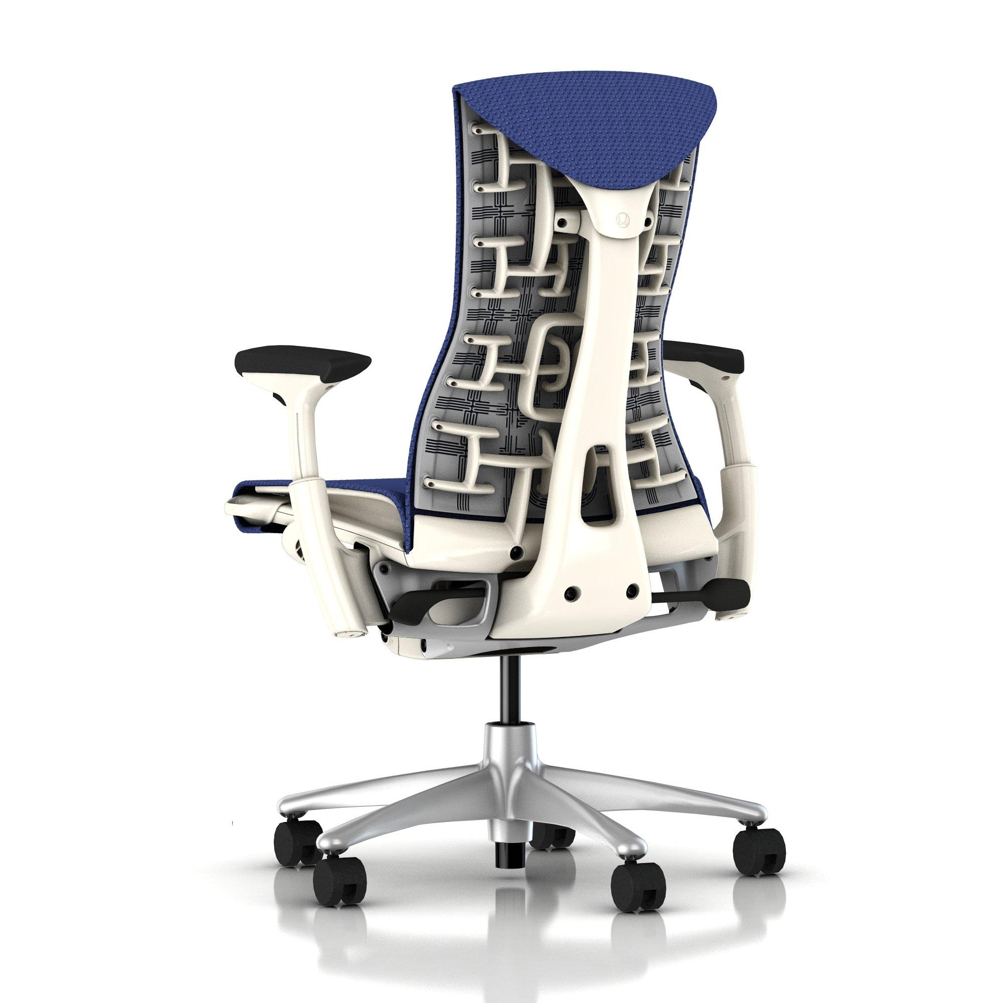 Herman Miller Embody Chair Iris Blue Balance with White Frame and
