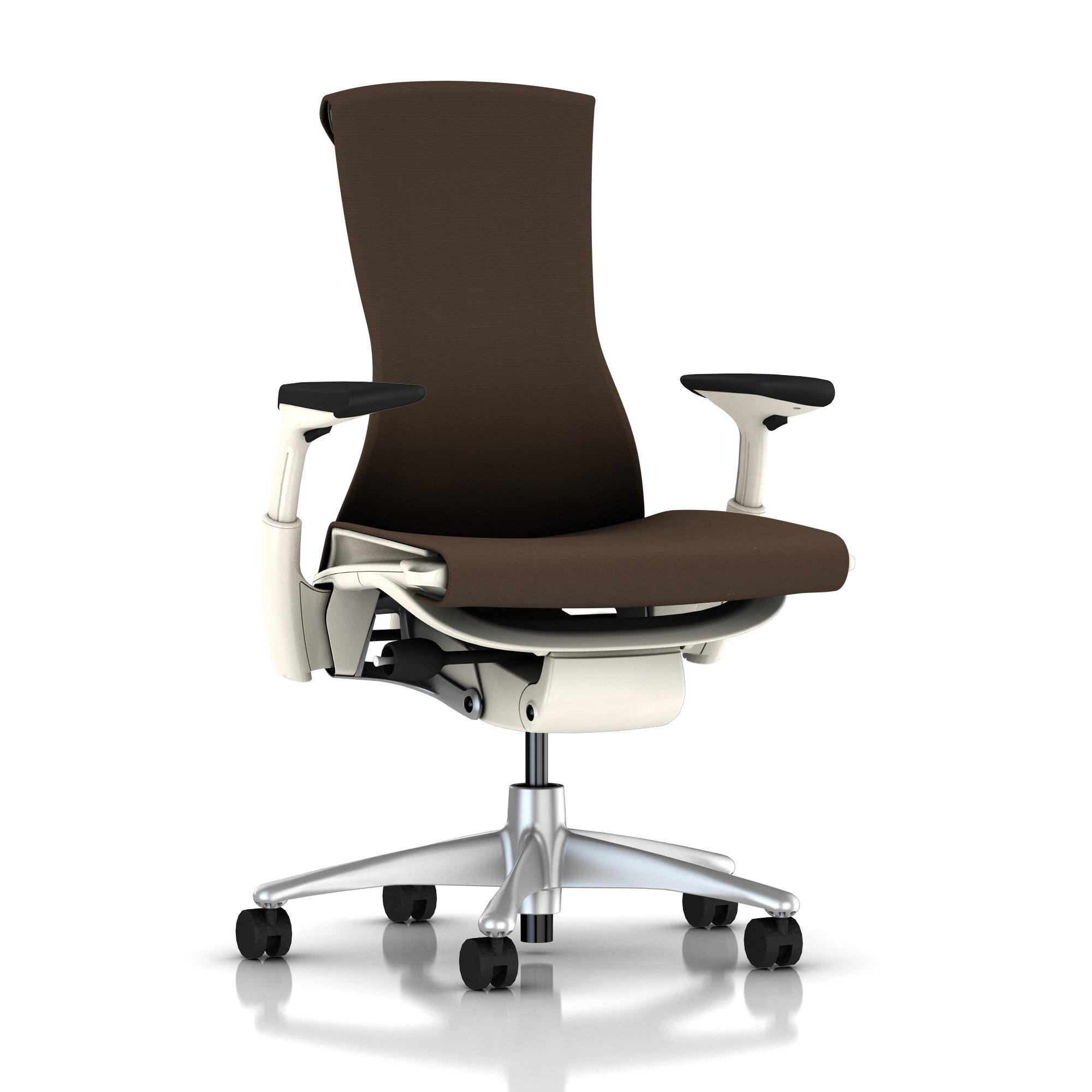 Herman Miller Embody Chair Mink Rhythm with White Frame and