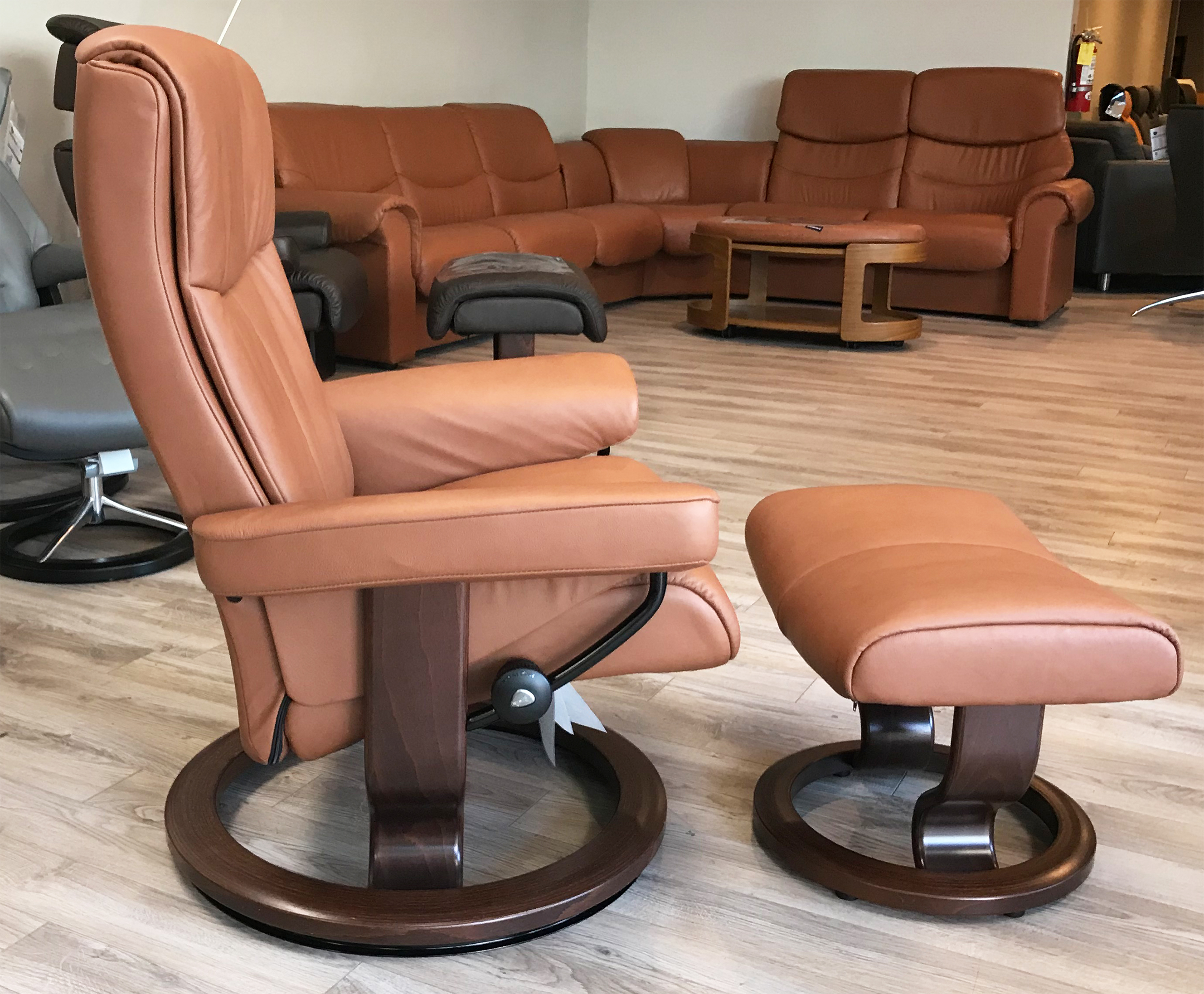 Stressless Peace Paloma Copper Leather by Ekornes Stressless