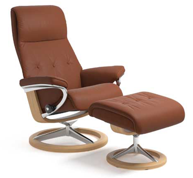 Stressless Sky Recliner Chair and Ottoman by Ekornes