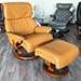 Stressless Spirit Large Recliner Chair and Ottoman in Cori Tan Leather by Ekornes