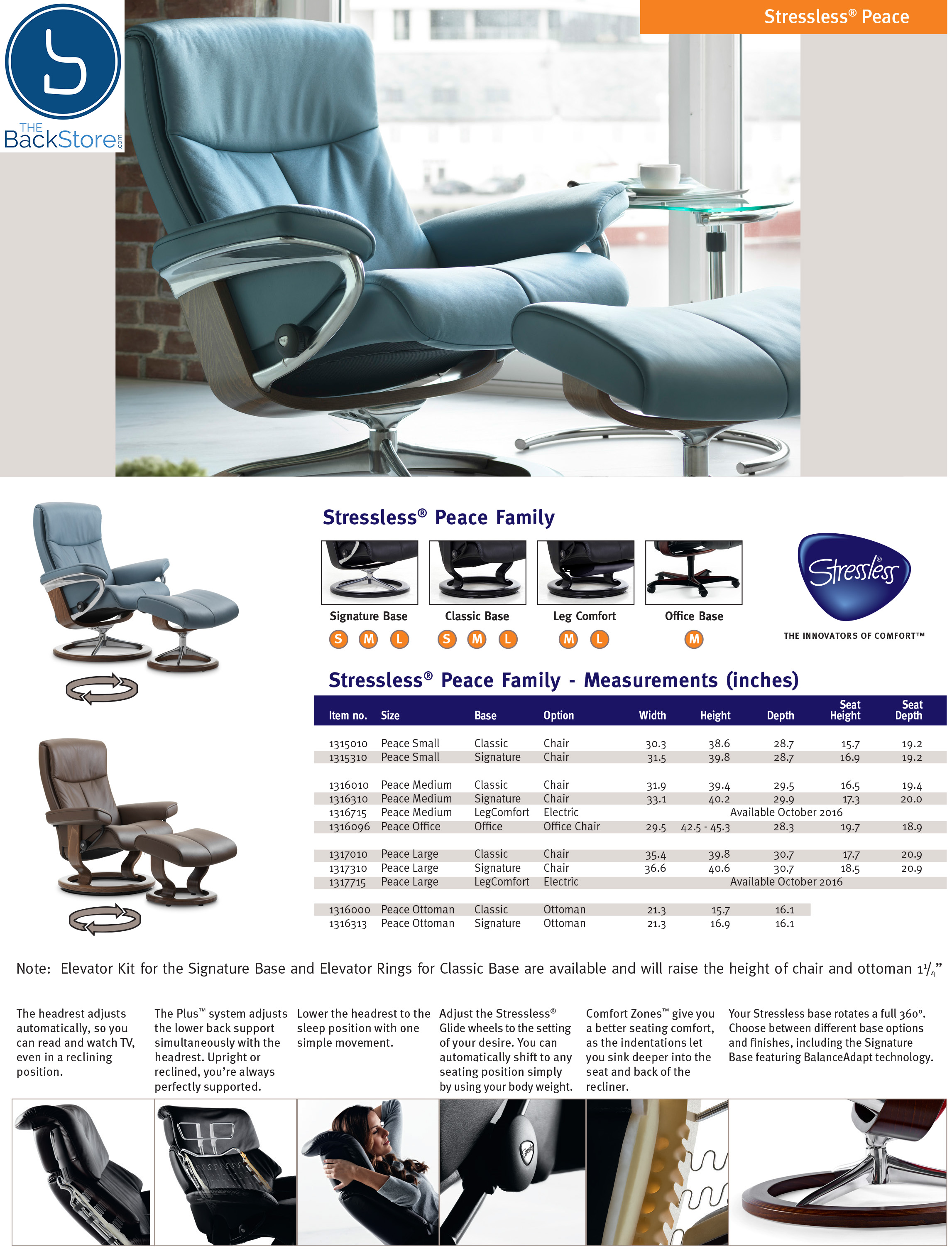 Stressless Peace Recliners Chairs Ekornes Stressless Peace