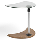 Stressless Alpha Glass Top Adjustable Wood Table