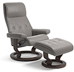 Stressless Sky Recliner Chair and Ottoman