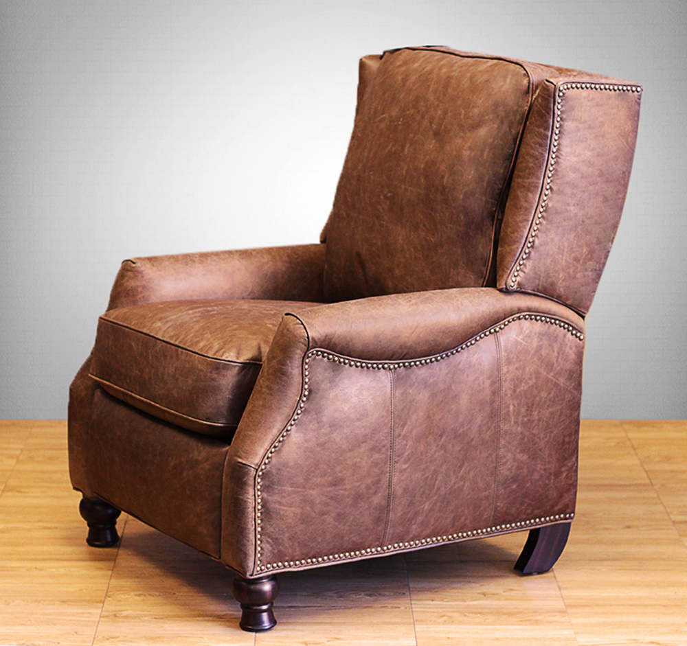 Barcalounger Recliner Chair Ashton II Chair Havana Brown Leather & Barcalounger Ashton II Recliner Chair - Leather Recliner Chair ... islam-shia.org
