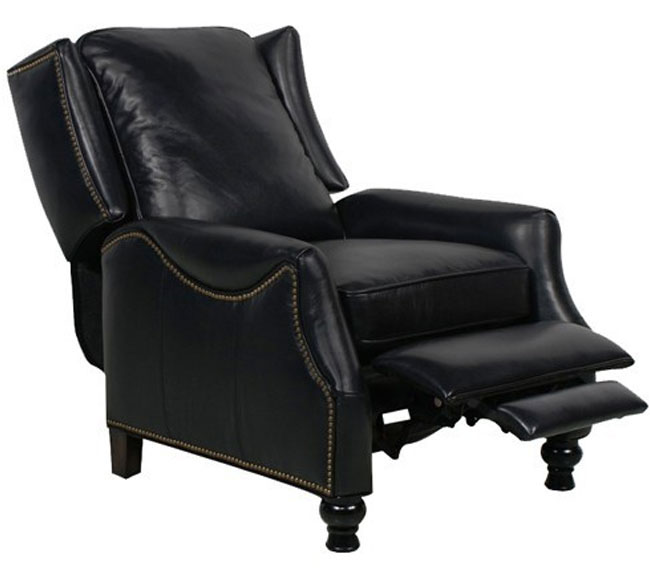 Great Leather Lounge Chairs Recliners #21 - Barcalounger Ashton II Recliner Chair Pearlized Black Leather