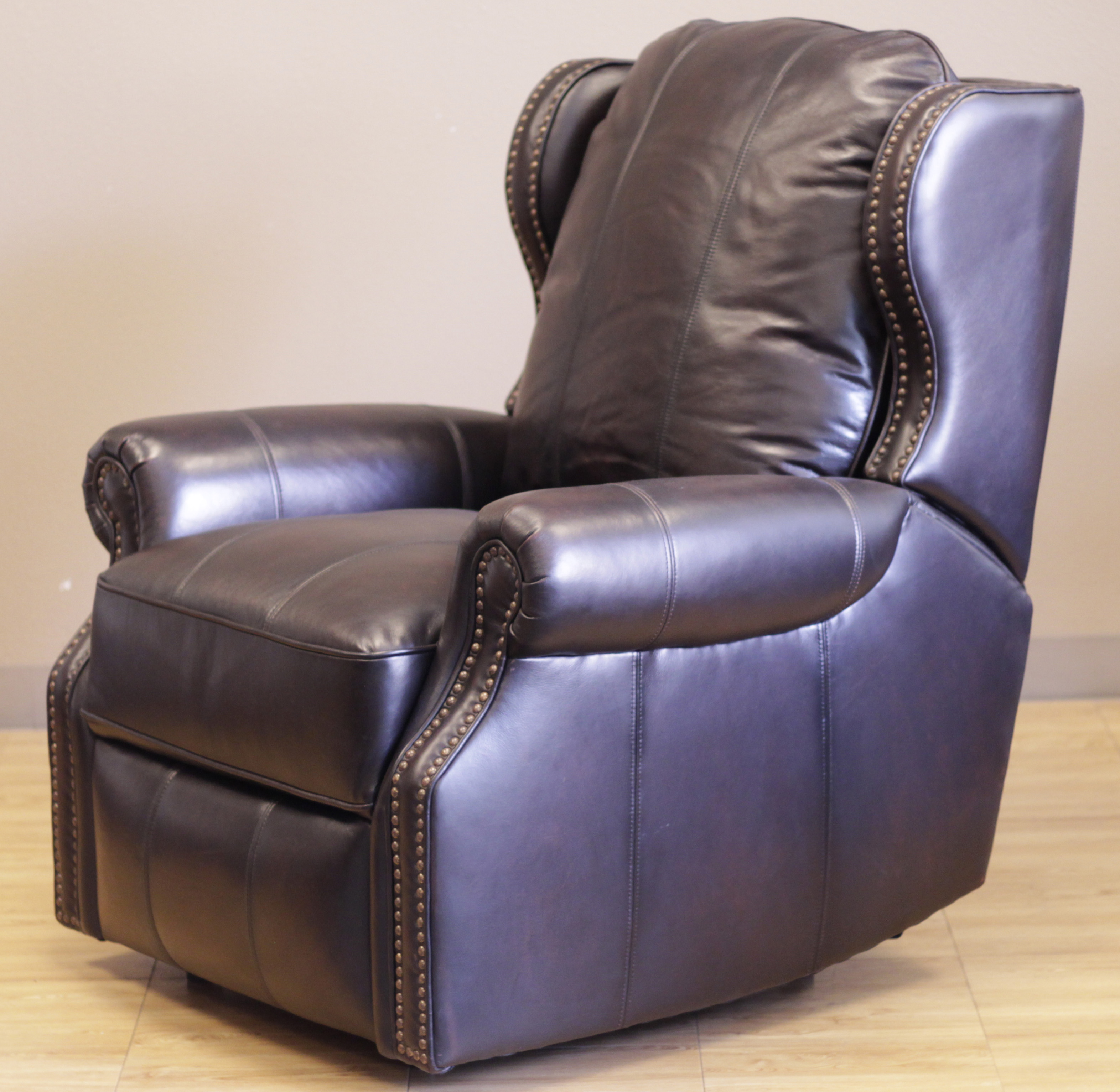 bristol ii recliner chair pearlized black leather