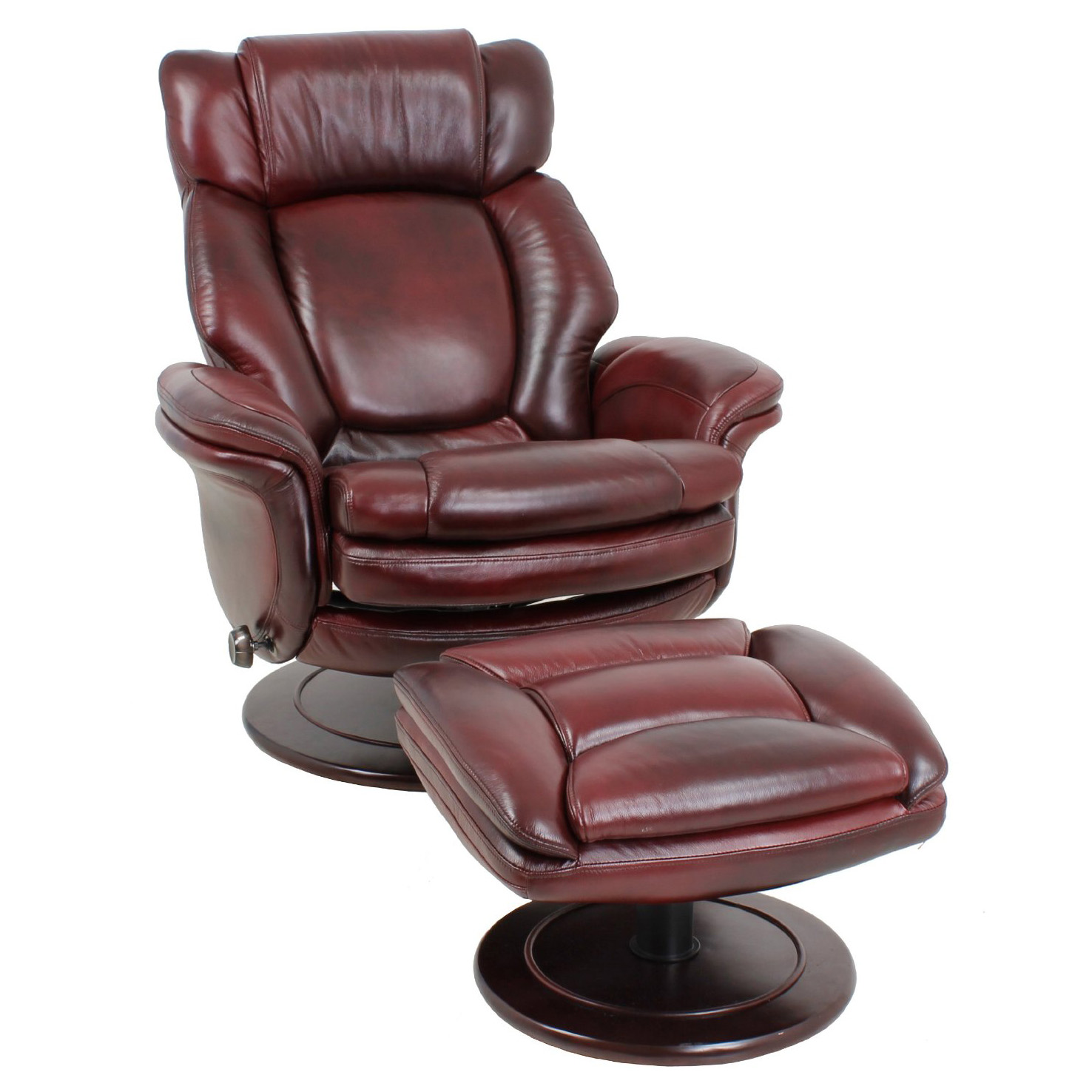 Barcalounger Lumina II Recliner Chair and Ottoman - Leather Recliner Chair Furniture - Lounge ...