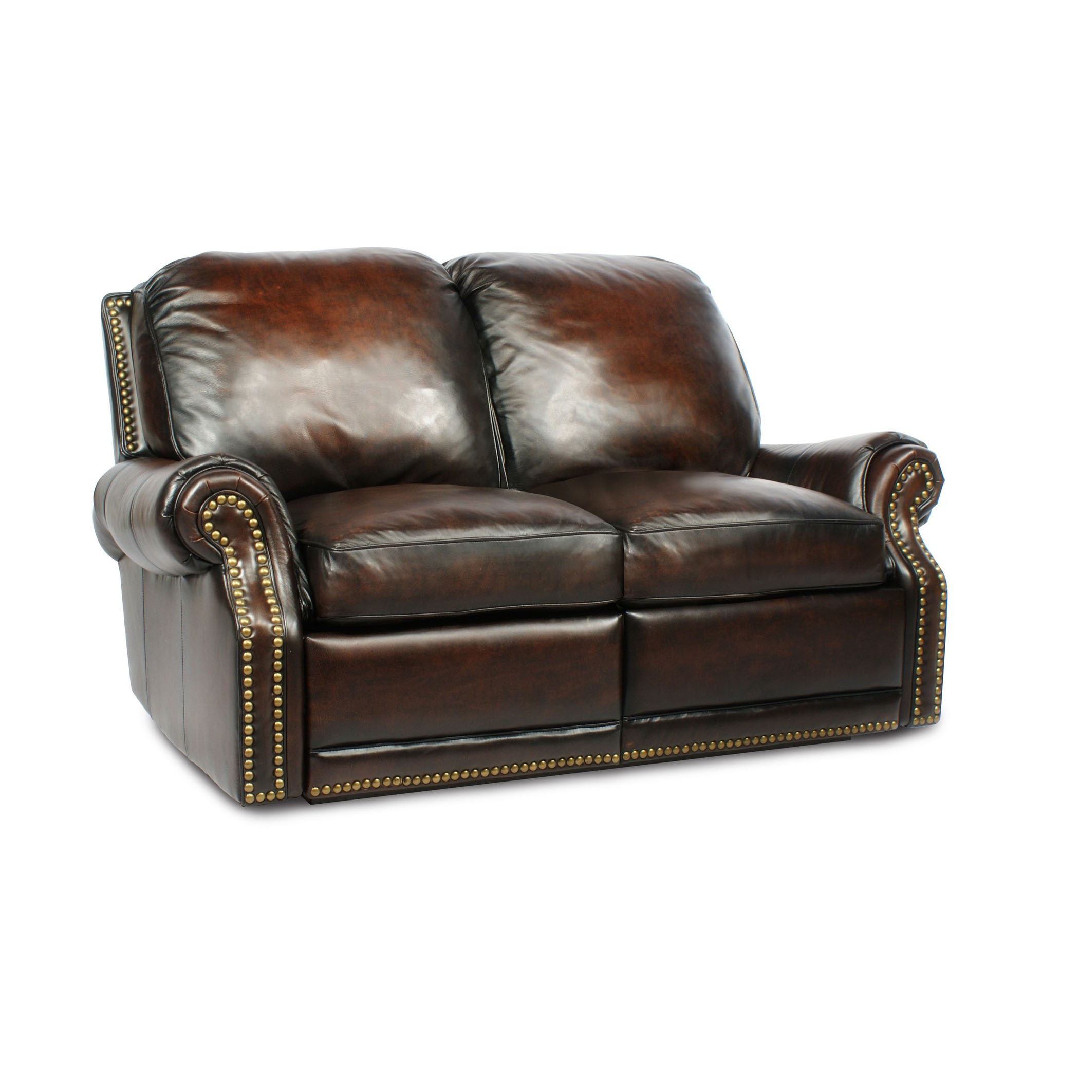 Barcalounger premier ii leather 2 seat loveseat sofa Reclining leather sofa and loveseat