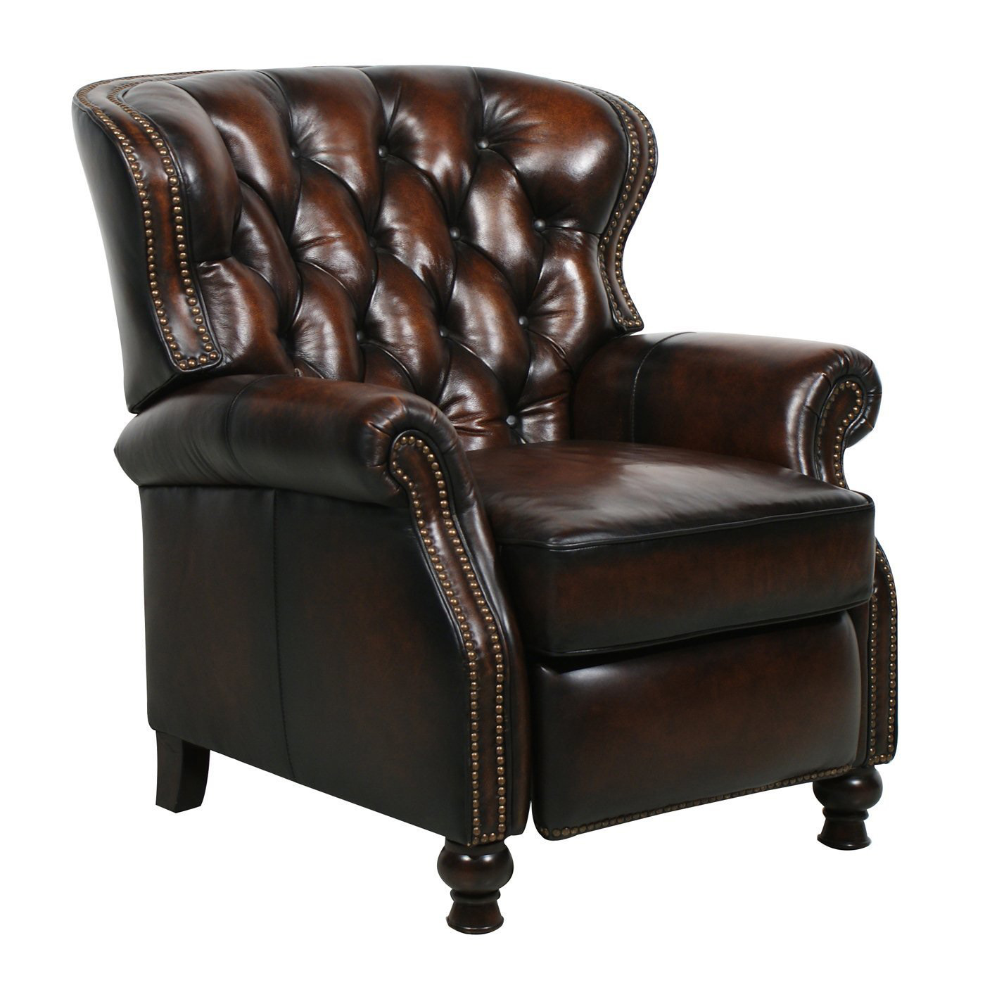 Chair Furniture: Barcalounger Presidential II Leather Recliner Chair