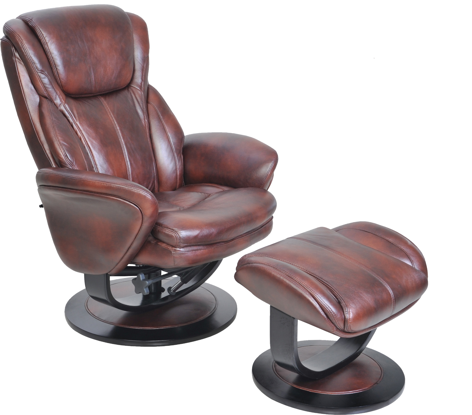 Barcalounger Roma II Recliner Chair and Ottoman Leather Recliner Chair Furniture Lounge