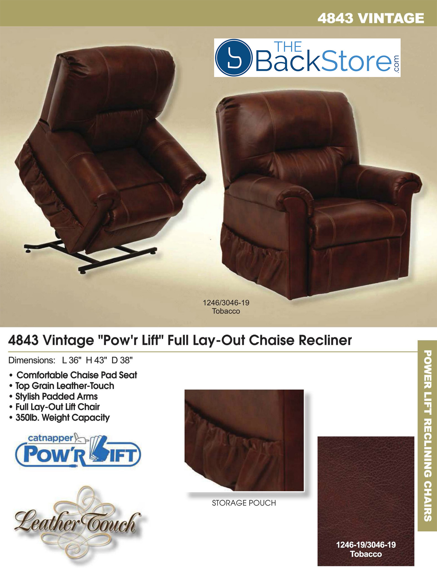 Catnapper Recliners Soother Tan Powerlift Recliner By Catnapper