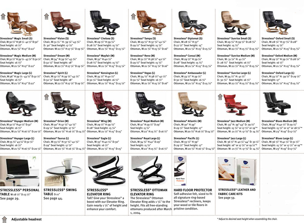 Sofa Sizes ekornes stressless recliner and sofa sizes / dimensions - recliner
