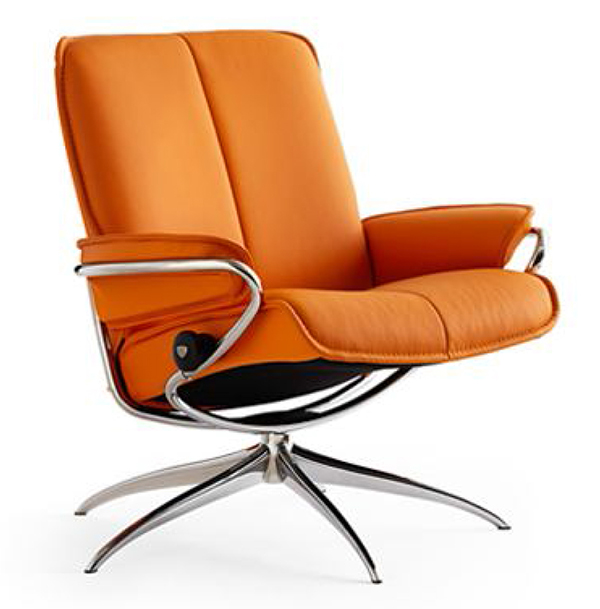 Stressless City Low Back Leather Recliner Chair by Ekornes  sc 1 st  Vitalityweb.com : ergonomic leather recliner - islam-shia.org
