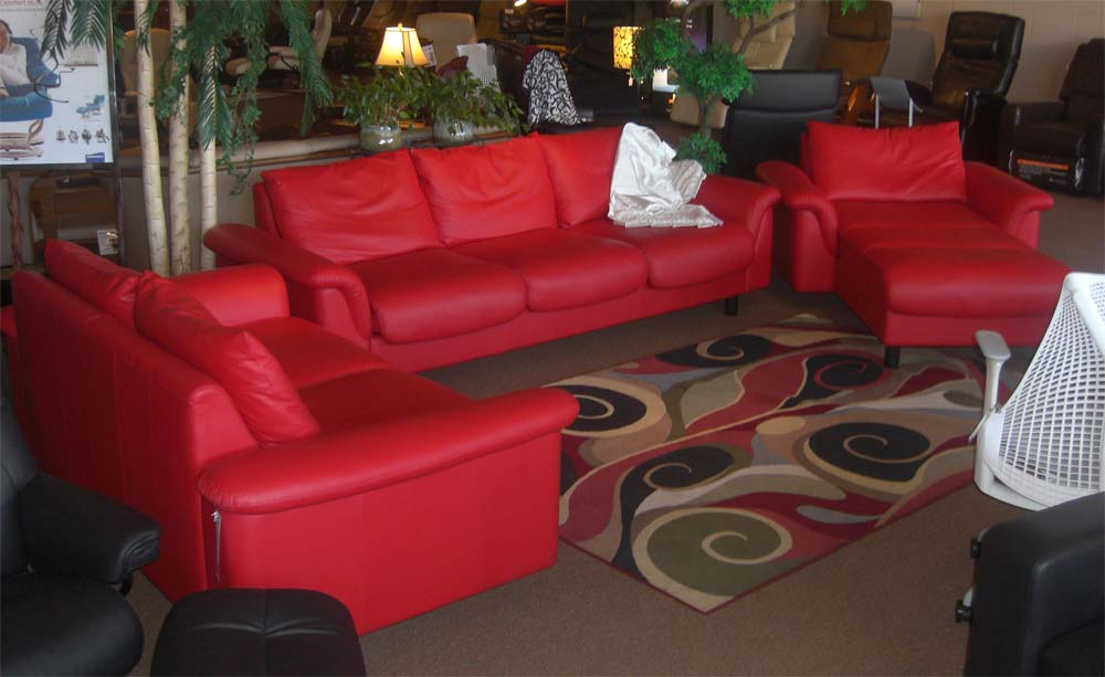 Stressless E300 Leather Sofa Ergonomic Couch By Ekornes