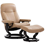 Stressless Garda Recliner Chair and Ottoman by Ekornes