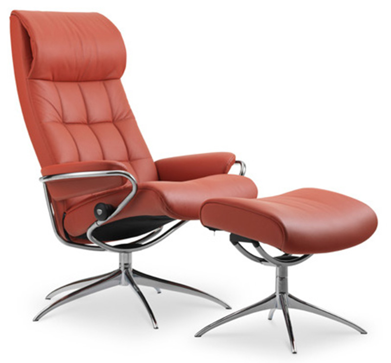 Ekornes Stressless London High Back Leather Recliner And