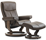 Stressless Peace Recliner Chair and Ottoman