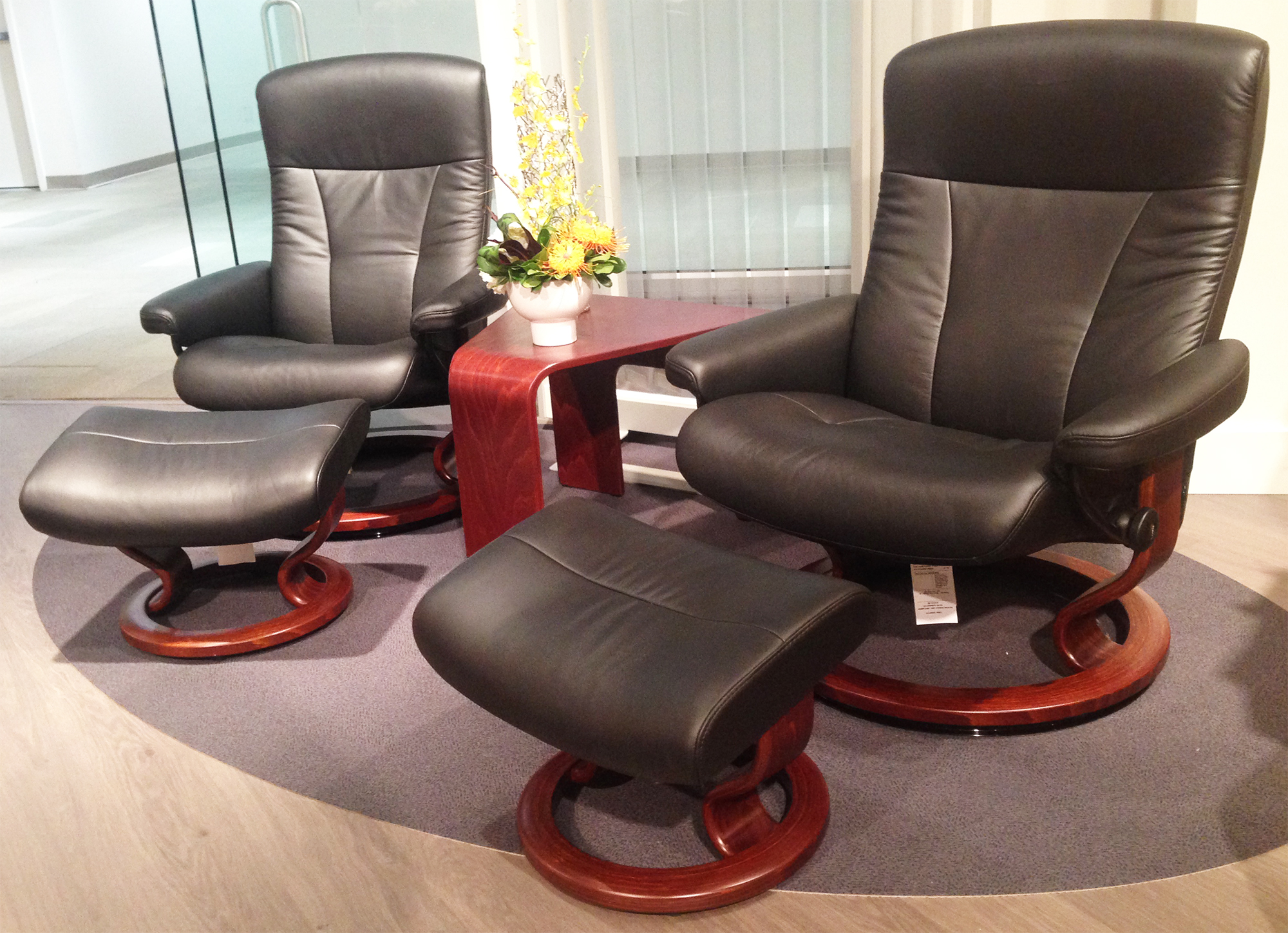 Ekornes Stressless President Large and Medium Recliner Chair