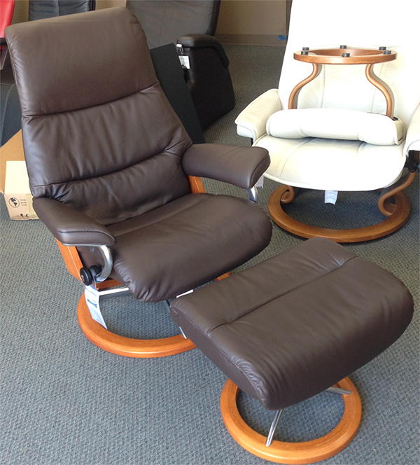 View Stressless Paloma Mocca Recliner Chair Leather by Ekornes