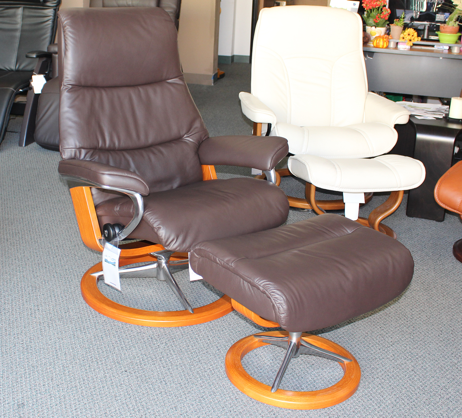 View Paloma Mocca Leather Recliner Chair