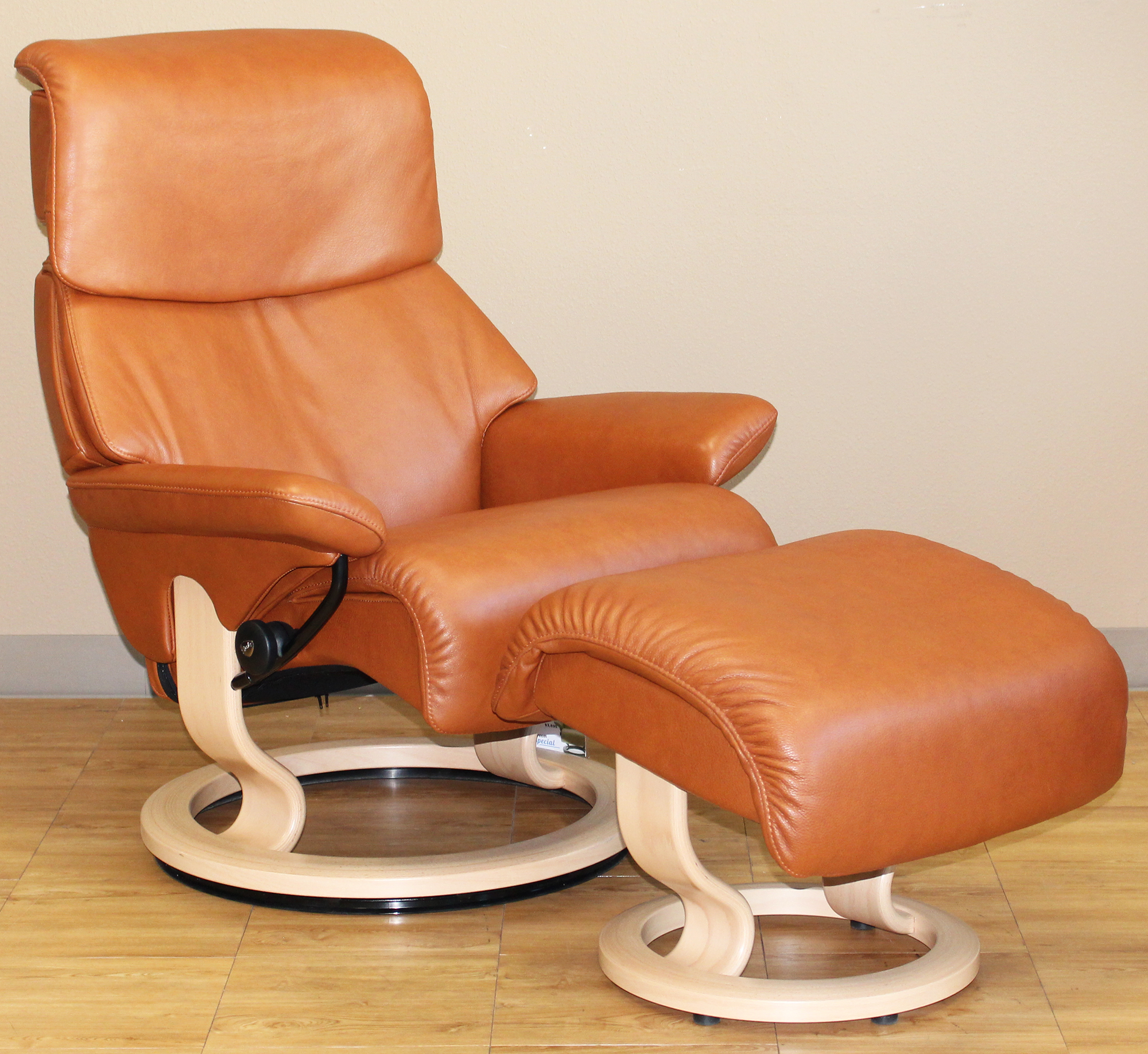 Superb Stressless Dream Royalin TigerEye Leather Recliner Chair By Ekornes