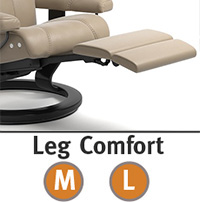 Stressless Aura LegComfort Power Extending Footrest with Classic Wood Base