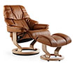 Stressless Recliner Chair and Ottoman
