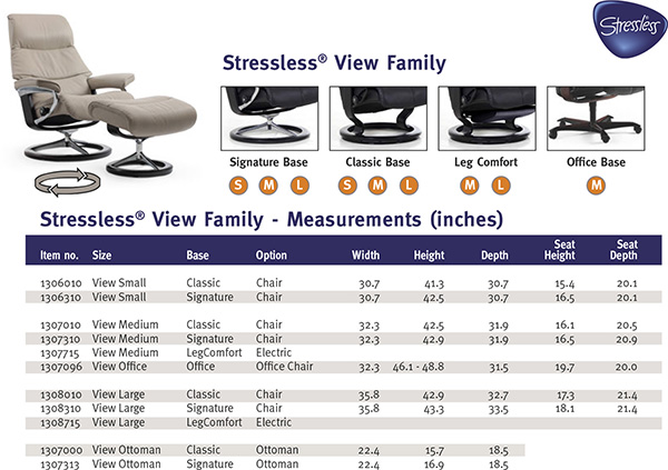 Stressless View Family Recliner Chair from Ekornes
