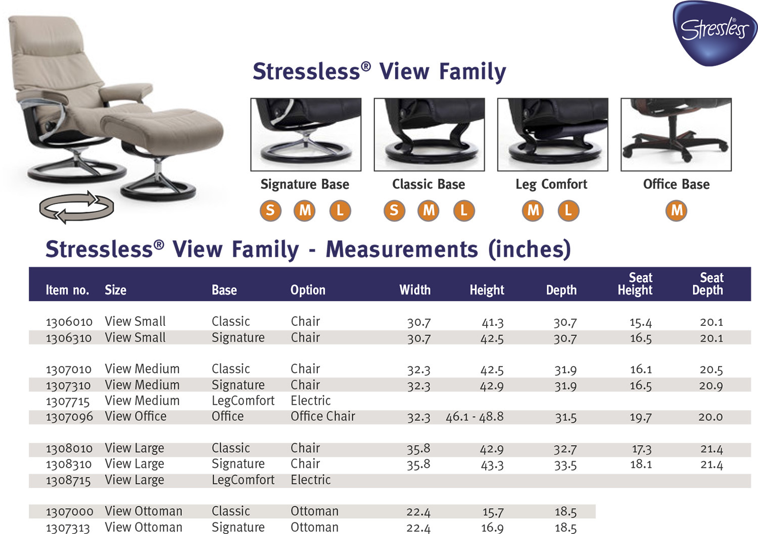 Stressless View Family Recliner Chair and Ottoman  sc 1 st  Vitalityweb.com & Ekornes Stressless View Medium Leather Recliner and Ottoman ... islam-shia.org