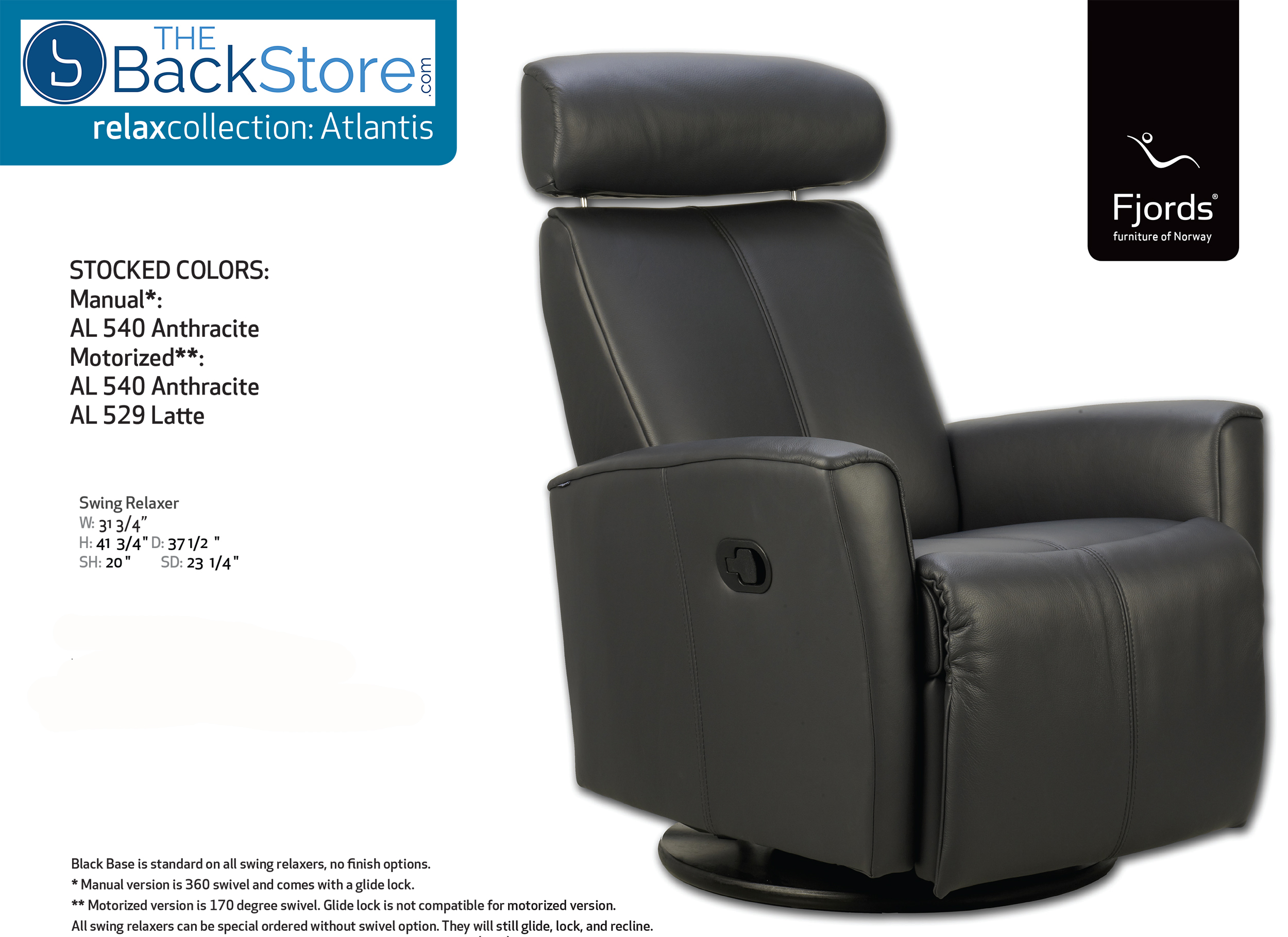 Fjords Atlantis Swing Relaxer Leather Recliner Chair  sc 1 st  Vitalityweb.com & Fjords Atlantis Ergonomic Electric Recline Power Swing Recliner ... islam-shia.org