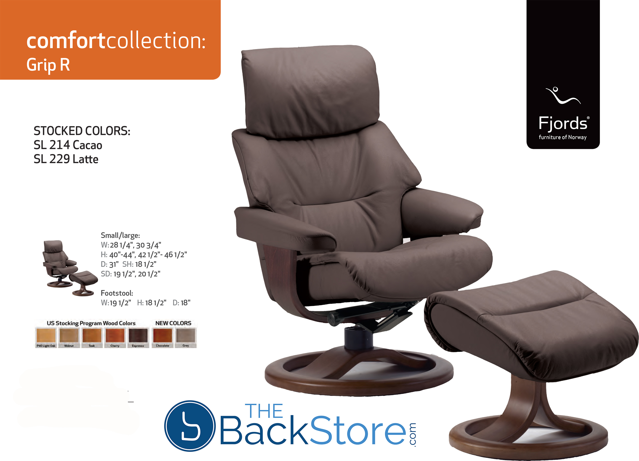 Fjords Grip Leather Recliner Chair and Ottoman  sc 1 st  Vitalityweb.com & Fjords Grip Ergonomic Leather Recliner Chair + Ottoman ... islam-shia.org