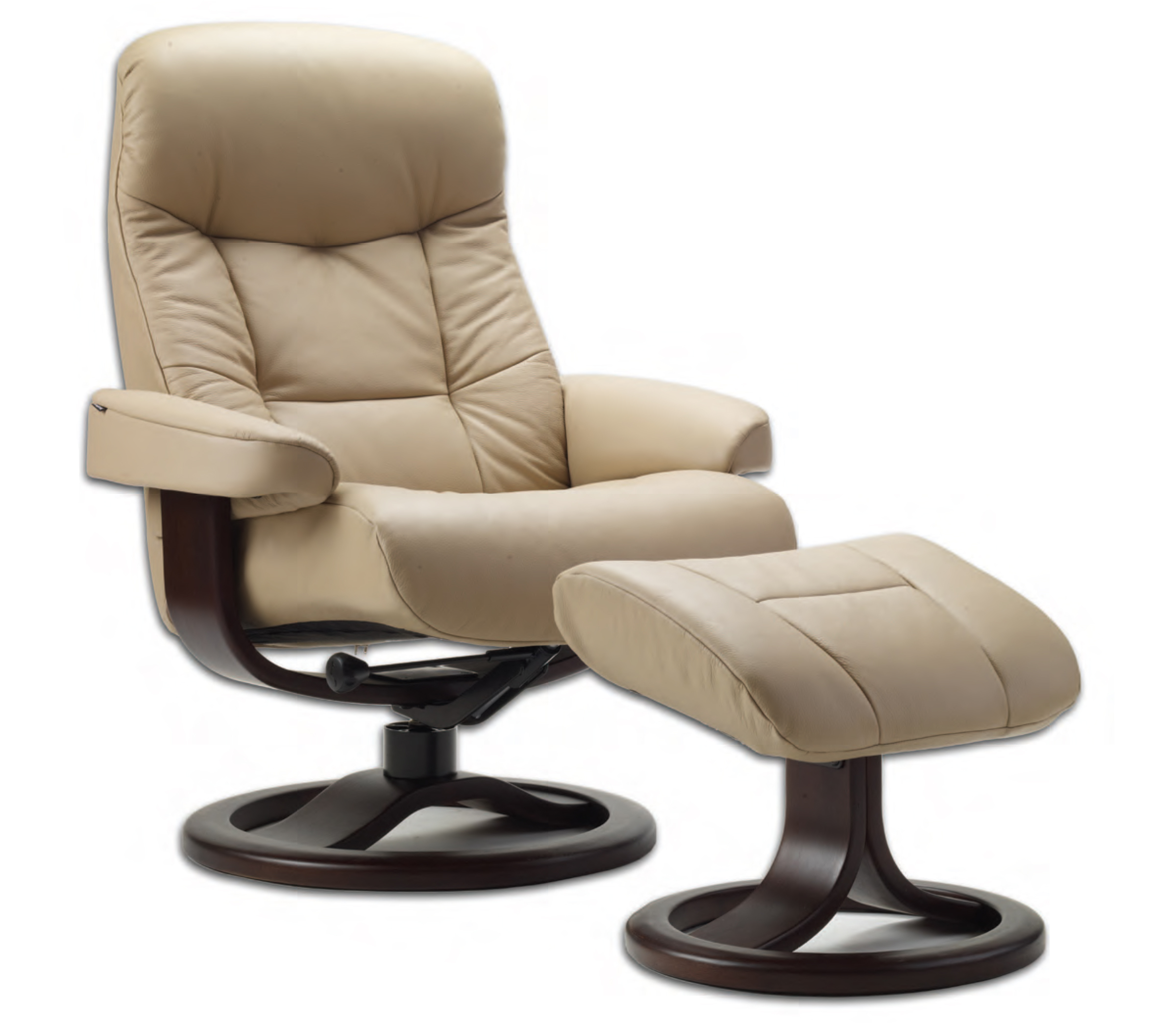 Fjords 215 Muldal Ergonomic Leather Recliner Chair Ottoman Scandinavian Nor