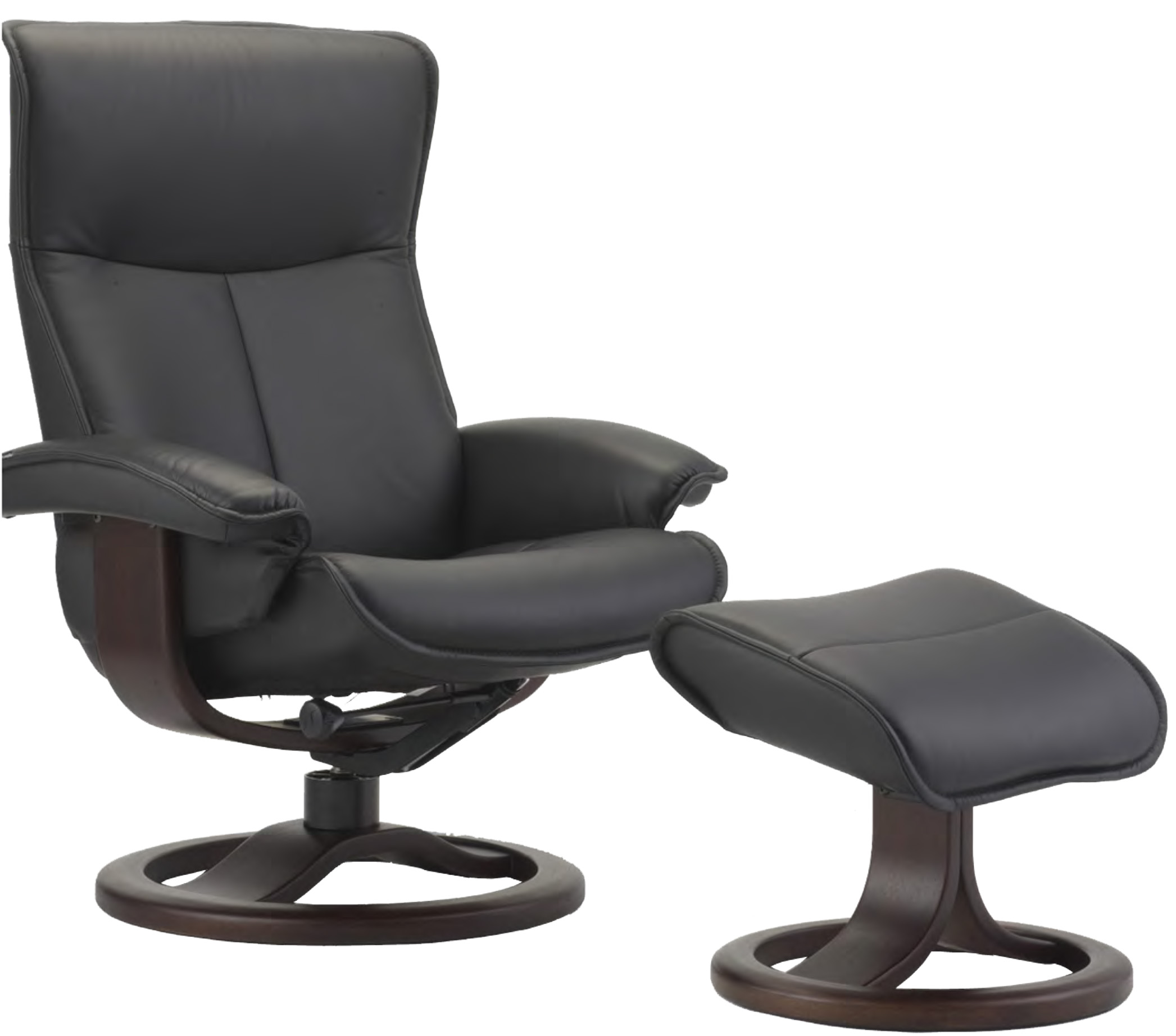 Fjords Senator Ergonomic Leather Recliner Chair and Ottoman Scandinavian  sc 1 st  Vitalityweb.com & Fjords Senator Ergonomic Leather Recliner Chair + Ottoman ... islam-shia.org