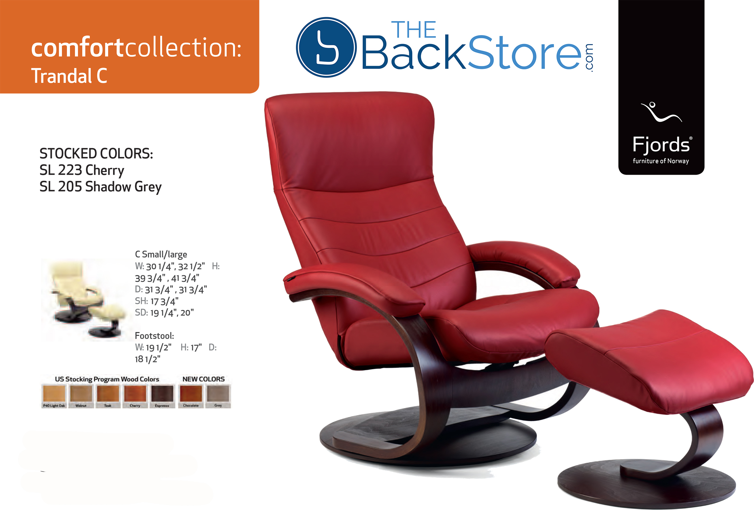Fjords Trandal Leather Recliner Chair and Ottoman  sc 1 st  Vitalityweb.com & Fjords Trandal Ergonomic Leather C Frame Recliner Chair + Ottoman ... islam-shia.org