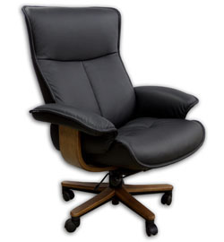 fjords senator soho executive leather ergonomic office chair desk chair - Gray Leather Office Chair