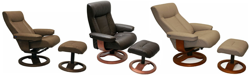 Fjords ScanSit 110 Recliner Chair And Ottoman