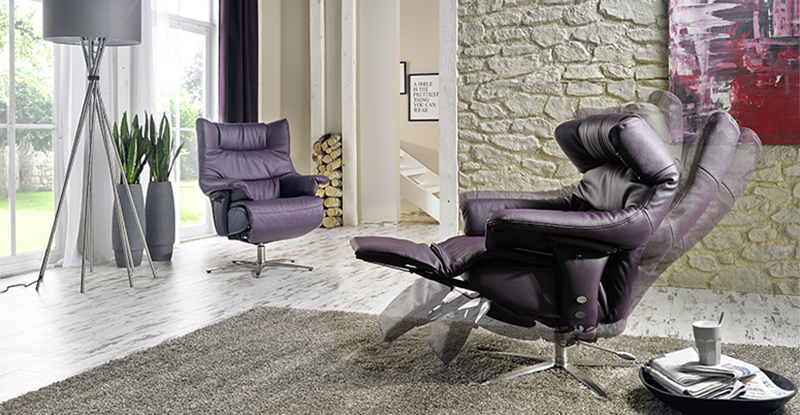 himolla harmony zerostress integrated recliner leather. Black Bedroom Furniture Sets. Home Design Ideas