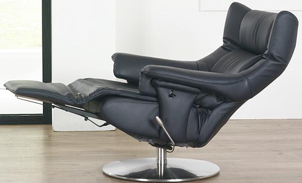 Himolla Opus ZeroStress Black Leather Integrated Recliner Chair : oslo recliner chair - islam-shia.org