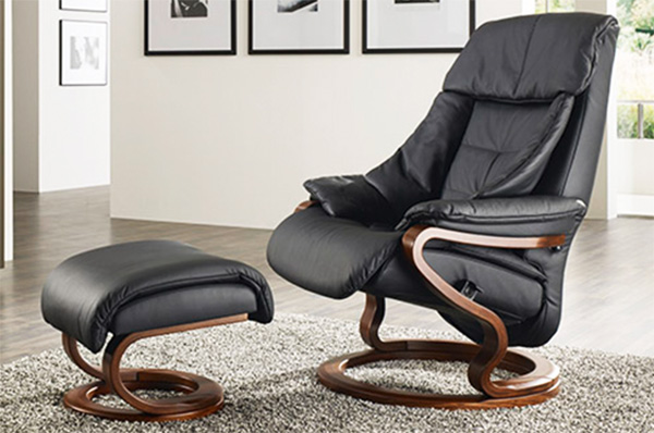 Himolla Palena Leather ZeroStress Transitional Recliner Chair and Foot Stool Ottoman & Himolla Palena ZeroStress Transitional Recliner Leather Chair and ... islam-shia.org