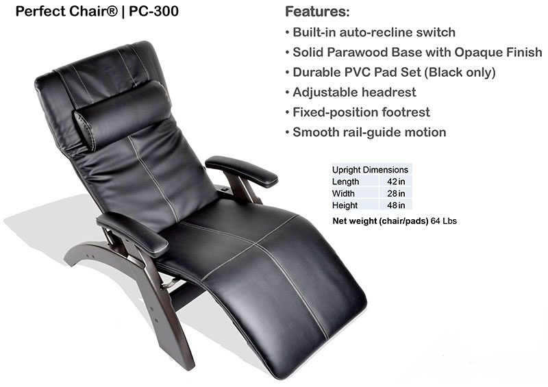 Human Touch PC-300 Power Perfect Chair Recliner  sc 1 st  Vitalityweb.com : reclining easy chairs - islam-shia.org