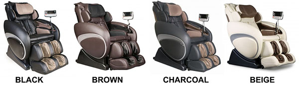 Osaki OS 4000 Executive Zero Gravity Massage Chair Recliner Colors
