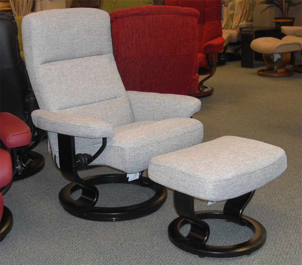 Stressless Atlantic Grey Fabric Recliner Chair : ekornes stressless governor recliner - islam-shia.org