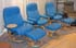 Stressless Diplomat Small Recliner and Ottoman - Paloma Sky Blue Leather by Ekornes