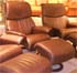 Stressless Vision Recliner Chair and Ottoman - Royalin Amarone Leather