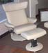 Stressless Jazz Large Recliner and Ottoman - Paloma Kitt Leather