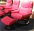 Stressless Kensington Paloma Cerise Pink Leather Recliner