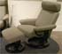 Stressless Orion Recliner and Ottoman